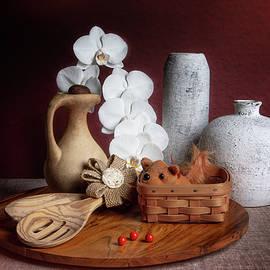 White Orchid in Still Life by Tom Mc Nemar