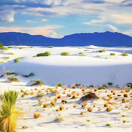 White Sands Sunset Photopainting by Bob Lentz