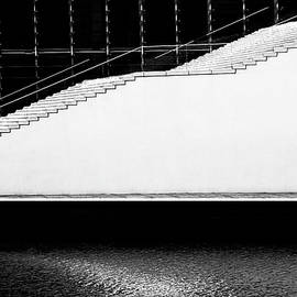 White Staircase by Angelika Vogel