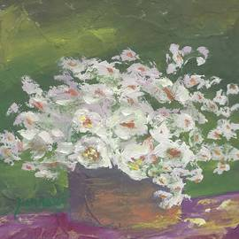 White Vinca by Sue Furrow