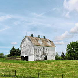 Whitewashed Barn by Susan Hope Finley