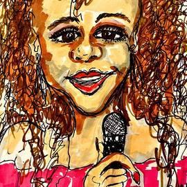 Whitney Houston by Geraldine Myszenski