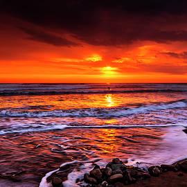 Widemouth, Bude, Sunset, Cornwall, UK by Maggie Mccall
