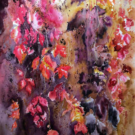 Wild grapes. Golden autumn by Nadezhda Bogomolova