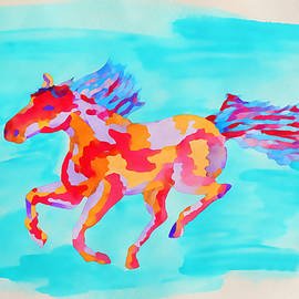Wild Mustang in Wild Colors by Gaby Ethington