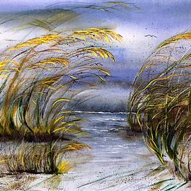 Outer Banks at Cape Hatteras National Seashore OBX Wild Sea Oats3 by Catherine Ludwig Donleycott