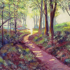 Wildflowers Along The Path by David Lloyd Glover