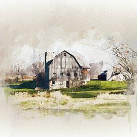 Willard Barn Watercolor by Mary Timman
