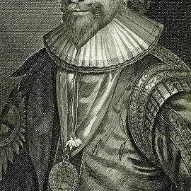 William Herbert, 17th century Earl of Pembroke - scan of antique engraving by Terence Kerr