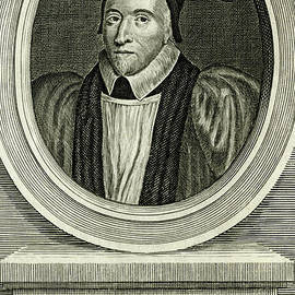 William Juxon, 17th century Archbishop of Canterbury - scan of antique engraving by Terence Kerr