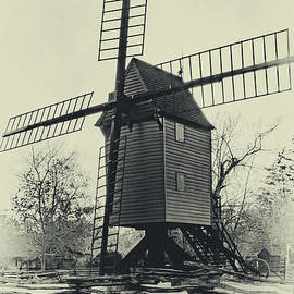 Williamsburg Windmill in Sepia by Norma Brandsberg