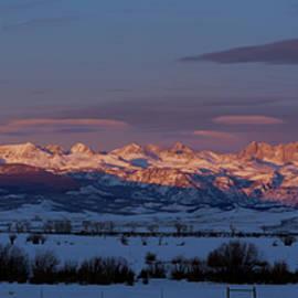 Wind River Range Winter Sunset  by Julieta Belmont