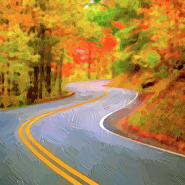 Winding road painterly by Alexey Stiop