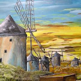 Windmiills In Spain faa by Irving Starr