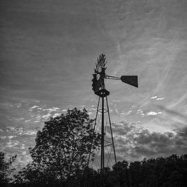 Windmill With Moon by Angelo Marcialis
