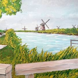 Windmills On A Cloudy Day by Irving Starr