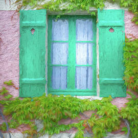 Window of Claude Monet's Home, Giverny, France, Painterly by Liesl Walsh