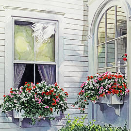 Windows At The Red Lion Inn by David Lloyd Glover