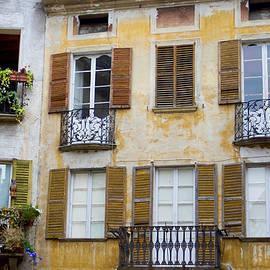 Windows, Chiavenna, Lombardy, Italy by Joe Vella