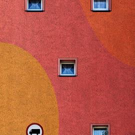 Windows on a Colourful Wall Photograph  by Arro FineArt