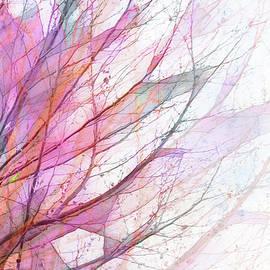 Windswept Spring Tree by Terry Davis