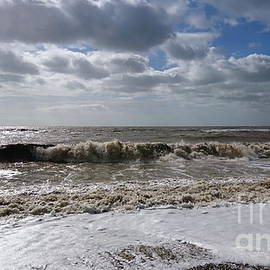 Windy seaside, waves and clouds, Camber Sands by Paul Boizot