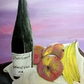 Wine and Fruit by Irving Starr