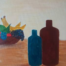 Wine And Fruit by Nomi Morina