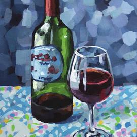 Wineglass and Bottle by John Wallie