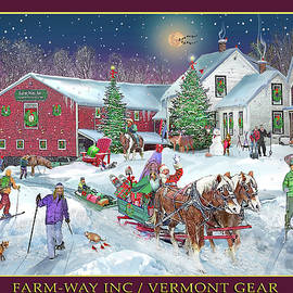 Winter at Farm Way Inc Outfitters for Man and Beast by Nancy Griswold