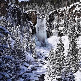Winter at Tumalo Falls by Dana Hardy