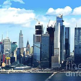 Winter Blues - New York Skyline and Hudson River by Regina Geoghan