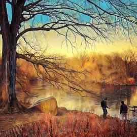 Winter by the Lake by Miriam Danar
