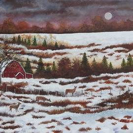 Winter Deer  by Brian Mickey