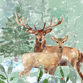 Winter Deer by HH Photography of Florida