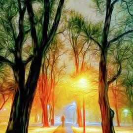 Winter Evening in Oriole Park by Helen Filatova