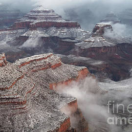 Winter Fog and Clouds in Grand Canyon National Park by Tom Schwabel