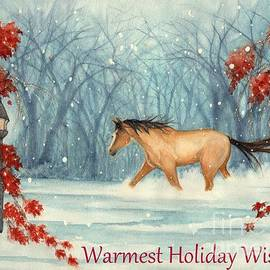 Winter Holiday Horse through the Snow
