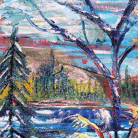 Winter Memories -- Barger Lake  by Catherine Ludwig Donleycott