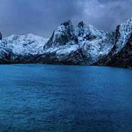 Winter Lofoten Fjord by Norma Brandsberg