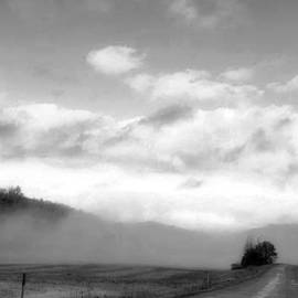 Winter Mist Along A Country Road by Kay Novy