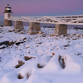 Winter Morning at Marshall Point Lighthouse by Kristen Wilkinson
