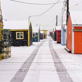 Winter Morning on Widgery Wharf by Jesse MacDonald