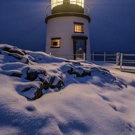 Winter Night at Owls Head Light by Kristen Wilkinson