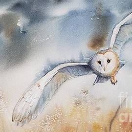 Winter owl by Patricia Pushaw