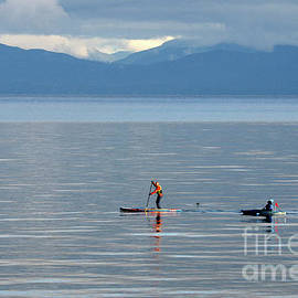 Winter Paddlers by Bob Christopher