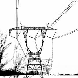 Winter Power Lines. by Bill Lee