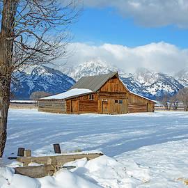 Winter Rustic Barn by Pauline Hall