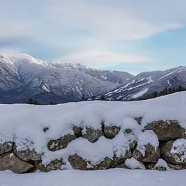 Winter Stone Wall Sugar Hill View by Chris Whiton