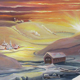 Winter Sunrise Over the Valley by Nancy Griswold